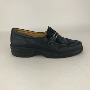 Ecco Choice Leather Suede Slip On Loafers